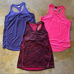Nike Dri Fit Tank Large Bundle 3 Tops Athletic